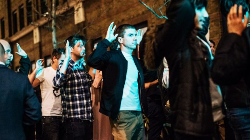 LONDON, UNITED KINGDOM - JUNE 03: People leave the area with their hands up after an incident near London Bridge on June 03, 2017 in London, England.  Seven people were killed and 48 injured after three knife-wielding assailants led a deadly rampage through central London, plowing a van into pedestrians on London Bridge and then running to a nearby open-air market.    PHOTOGRAPH BY Brais G. Rouco / Barcroft Images  London-T:+44 207 033 1031 E:hello@barcroftmedia.com - New York-T:+1 212 796 2458 E:hello@barcroftusa.com - New Delhi-T:+91 11 4053 2429 E:hello@barcroftindia.com www.barcroftmedia.com (Photo credit should read Brais G. Rouco / Barcroft Images / Barcroft Media via Getty Images)